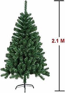 comprar comparacion Árbol de Navidad artificial de MCTECH, disponible en otros tamaños, color: verde, de PVC, 210 cm