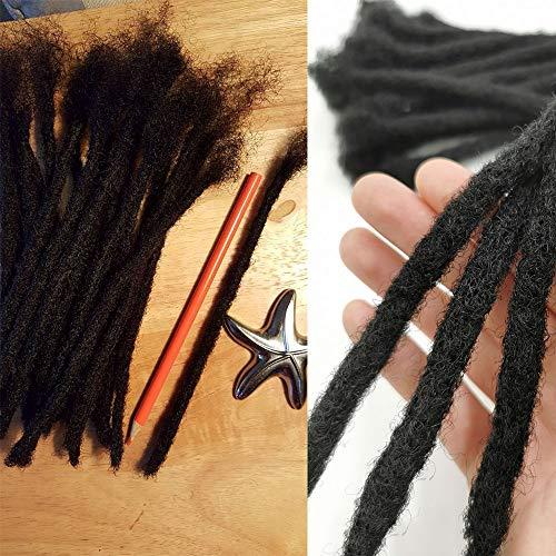 Dreadlock Locs Full Handmade 100% cheveux humains - Extensions de Loc-Dreadlocks permanentes 8 pouces Natural Black 120 brins/pack