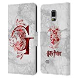 Head Case Designs Officiel Harry Potter Gryffindor Aguamenti Deathly Hallows IX Coque en Cuir à...