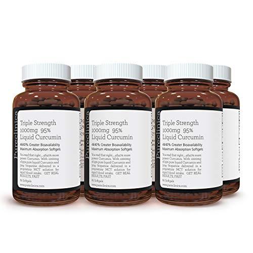 Triple Strength 1000mg 95% Liquid Curcumin x 360 Softgels (6 Bottles of 60) – 1 Years Supply!SKU: CURSOFx6