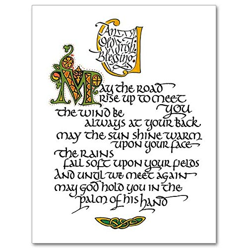 May the Road Rise Up to Meet You Irish Celtic Petite Notes