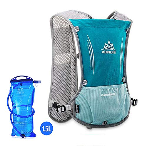 AONIJIE Hydration Pack Backpack Marathoner Running Race Hydration Vest Running Hiking Backpack with Hydration Pack (Black, with Bladder)