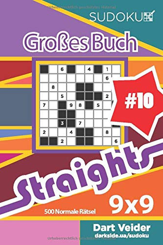 Sudoku Großes Buch Straights - 500 Normale Rätsel 9x9 (Band 10) - German Edition