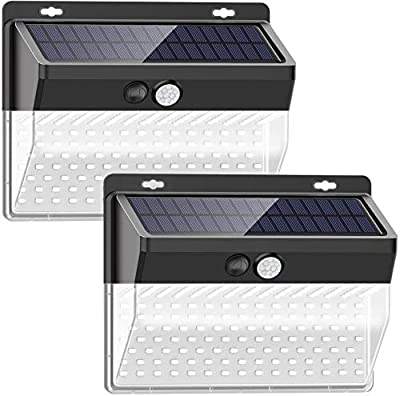 ?New Version?Solar Lights Outdoor, SEZAC Solar Security Outdoor Lights 270° Wide Angle Lighting Solar Motion Sensor Lights Wireless Waterproof