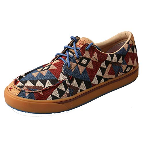 Twisted X Men's Cowboy Style Casual Hooey Loper Shoes, Graphic Pattern Canvas, 11 M