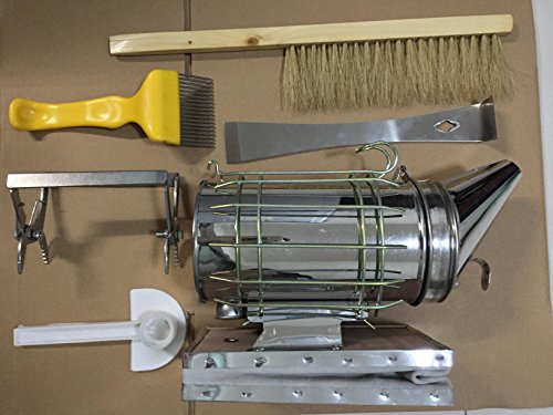 HLPB Beekeeping Tools Kit -6 Pcs. -Bee Hive Smoker, Beekeeping...