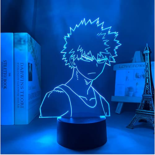 Lámpara De Ilusión Óptica Acrílica 3D Anime My Hero Academia Bakugo Luz De Noche Para Niños 7 Colores Luz De Noche Para Lámpara De Escritorio De Dormitorio
