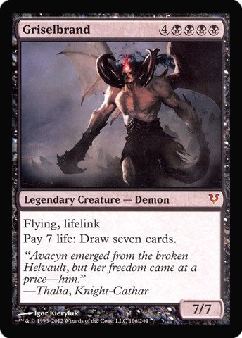 Magic The Gathering - Griselbrand Oversized Helvault Promo - Prerelease & Release Promos