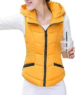 Women's Puffer Vest Sleeveless Winter Hooded Vest Coats