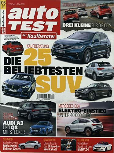 """Auto Test der Kaufberater 3/2021 \""""Die 25 beliebtesten SUV\"""""""