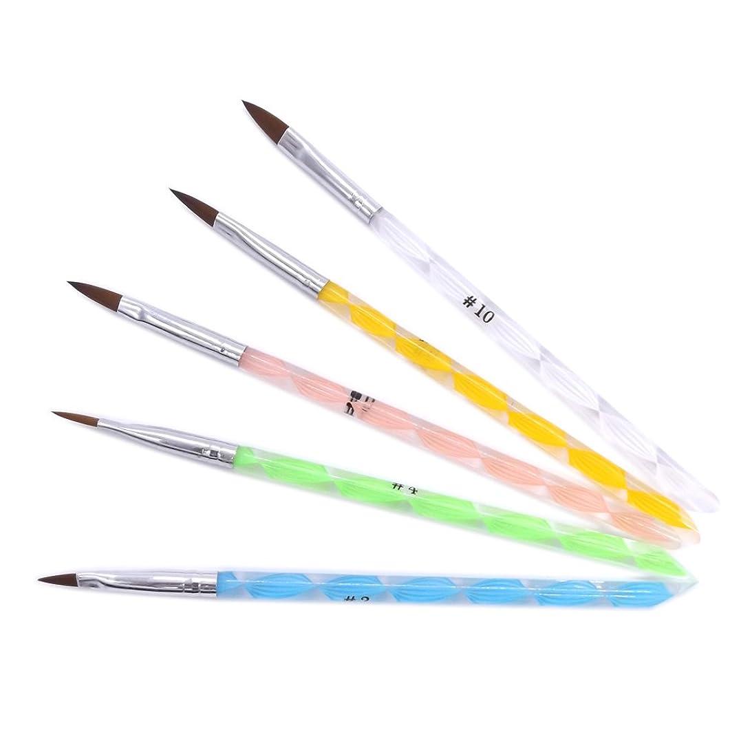 虎剥離ピアース(ウォームガール)Warm Girl ネイルアート アクリル用ブラシ ドットペン 5本セット ネイルデザイン 人気なセット