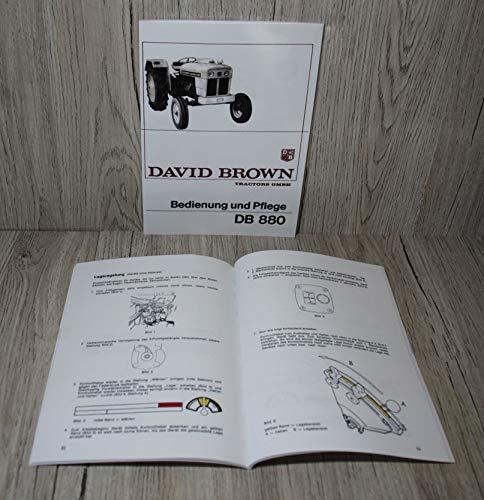 David Brown Betriebsanleitung Bedienungsanleitung Wartung und Pflege Traktor DB880