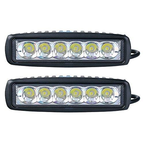 Lot de 2 lampes LED SLPRO®, 18w, 12 V 24 V, IP67, noir, pour phare, projecteur (90°), feu supplémentaire tout terrain, éclairage de voiture, pour véhicules tout-terrain, SUV, 4X4