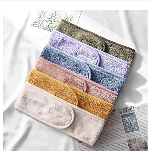 6 unids mujeres ancho banda ajustable suave toalla accesorios para el cabello yoga baño ducha maquillaje lavado cara cosmética diadema elástica banda ancha