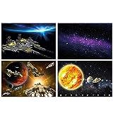 GREAT ART® 4er Set XXL Poster Kinder Motive – Weltraum