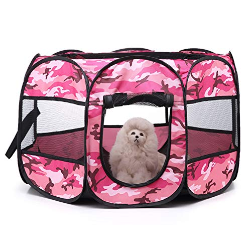 Parc Chaton Parc a Chat Animaux Jouer Stylo Chien Chenil Et Exécuter Hamster Parc Run Rabbit Intérieur Pet Stylo Parc pour Chiots Pink