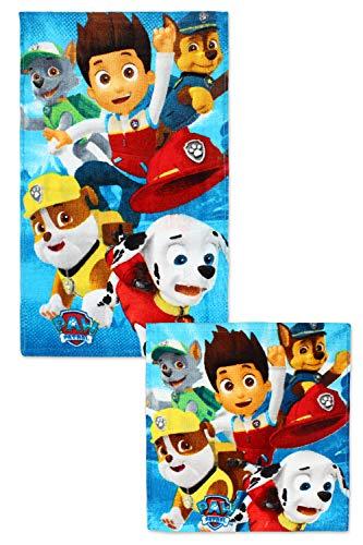 Nickelodeon Paw Patrol Handtuch und Waschlappen Set 821-329