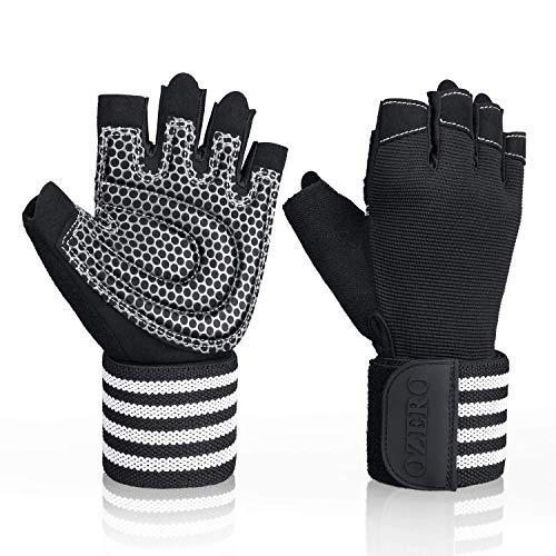 OZERO Fitness Handschuhe:Trainingshandschuhe für Weight Lifting mit Verstellbarem Handgelenk,Herren und Damen