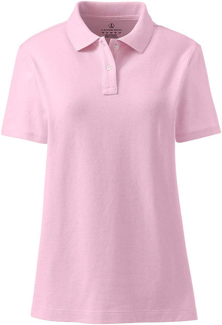 Lands' End School Uniform Women's Short Sleeve Feminine Fit Mesh Polo Shirt