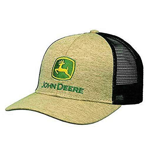 John Deere 6 Panel Cap Space Dye & Mesh-Jd Green-Os
