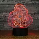 Magic Twist Nudo bloqueado USB Regalo Regulable 3D Lámpara de mesa...