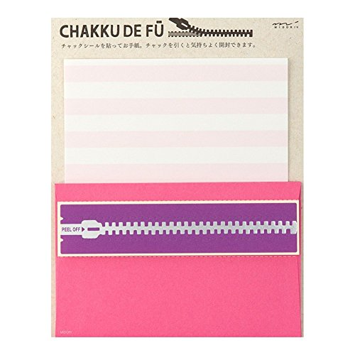 ミドリ  レターセット CHAKKU DE FU ピンク 86400006