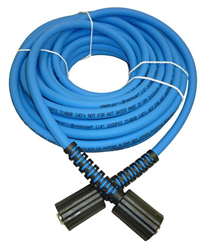 PROPULSE, A Schieffer Co. UBERFLEX Kink Resistant Pressure Washer Hose 1/4' x 50' 3,100 PSI with (2) 22MM