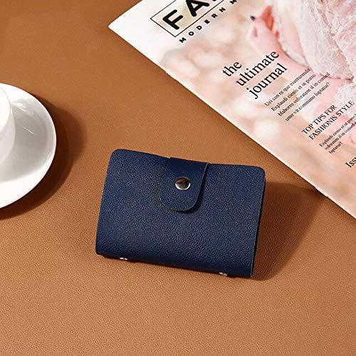 1pc PU-Funktion 24 Bits Kreditkarten-ID-Karte Brieftasche Geldhalter Organizer Case Pack Business Kreditkarteninhaber Bankkartenpaket-Dark Blue 3