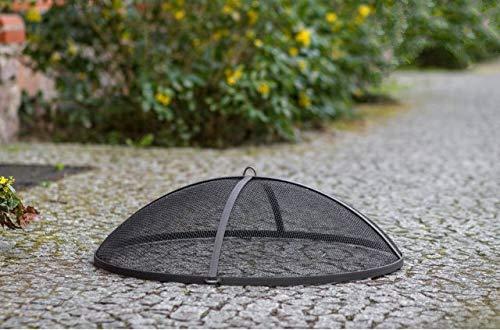 BlackOrange Funkenschutzhaube 79 cm Durchmesser aus Siebgewebe für Feuerschalen mit 80 cm Durchmesser - Ausführung: Rohstahl (Keine Beschichtung).