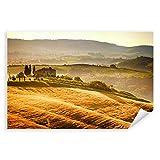 Postereck - 0542 - Getreidefeld, Toskana Vintage Italien
