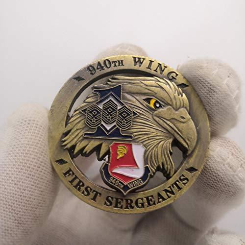 Heqing 10 unids/Lote, Moneda de águila Hueca Tridimensional, Moneda Conmemorativa de águila Americana, Medalla Militar de Bronce Antiguo C