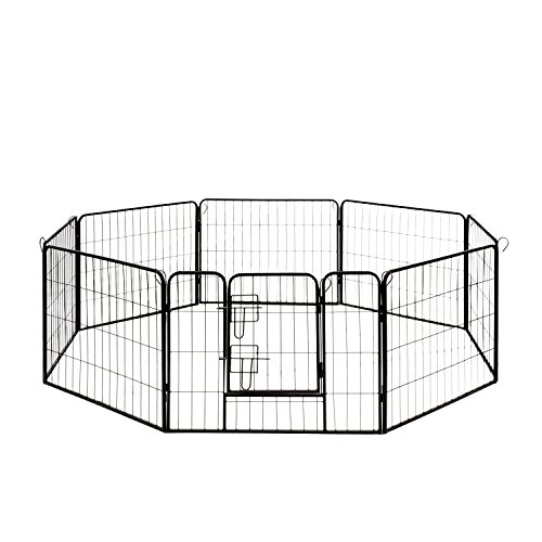 ALEKO DK24X32 Heavy Duty Pet Playpen Dog Kennel Pen Exercise Cage
