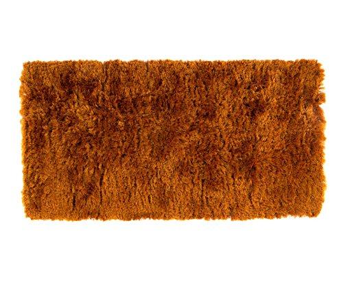 Alfombrista Shaggy Alfombra de Pelo Largo, Acrílico, Naranja, 60 x 120 cm