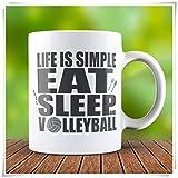 Taza de voleibol, taza para amantes del voleibol, taza de café, taza de café, taza de café, de cerámica, de alto brillo