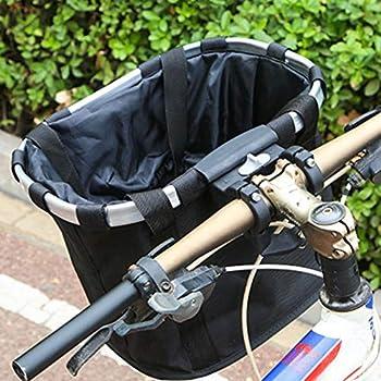 Panier de vélo pliable pour animal domestique - Panier de vélo pour chien et chat - Panier de pique-nique pour animal domestique, shopping, navet, camping et plein air, Café