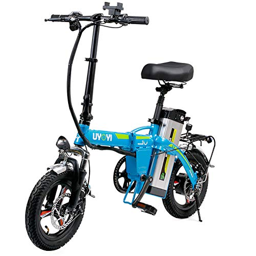 GUOJIN Bicicleta Electrica Plegables, 400W Motor Bicicleta Plegable 25 Km/H, Bici Electricas...