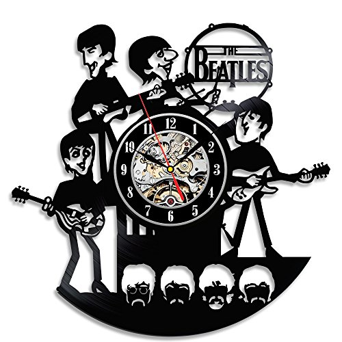Gullei Reloj para colar en la pared, vinilo, diseno de The Beatles