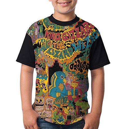 maichengxuan King Gizz-ard and Liz-ard Wizard - Camiseta de manga corta para niños