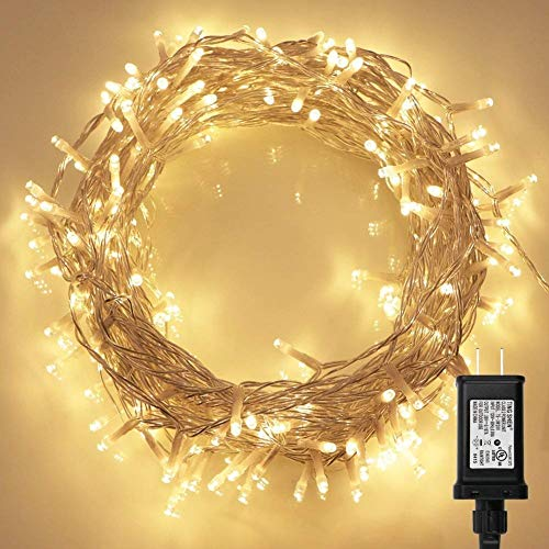 200 LED Indoor String Light with Remote and Timer on 69ft Clear...