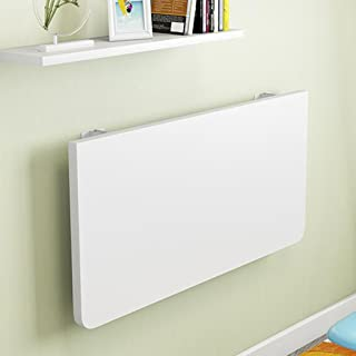 HQCC Wall-Mounted Folding Table Home Wall-Mounted Computer Desk Simple Desk Small Apartment (Color : White, Size : 5030cm)