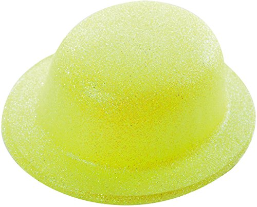 Chapeau Melon Paillette Jaune - Taille Unique