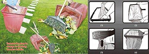 UPP Müllsack-Helfer/Müllsackständer/Sackhalter/Sackständer/Müllbeutel Ständer/Müllbeutel Rahmen/Müllsackhalter/Gartenabfallhalter/Laubsackhalter/Halter/Griff (ohne 105cm Holzgriff-Verlängerung)