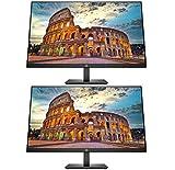 HP P274 27 Inch Full HD 1920 x 1080 LED LCD Anti-Glare Backlit Monitor (5QG36A8#ABA) 2-Pack
