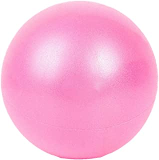 X&W Mini Yoga Pilates Ball 6 Inch for Stability Exercise Training Gym Anti Burst and Slip Resistant Balls with Inflatable Straw,  Pink