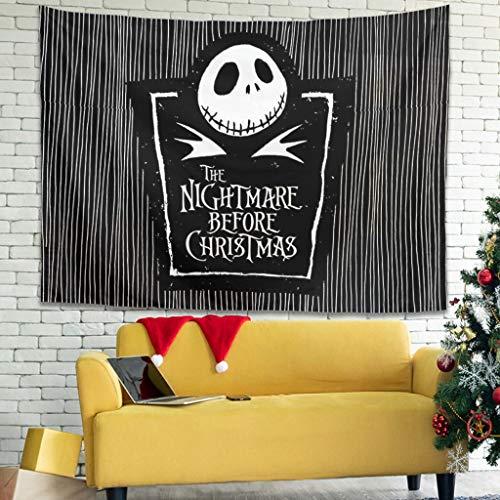 Bashionich Halloween Jack Pumpkin Before Christmas Nightmare Print Tapis Series Duvet White 3 100 x 150 cm