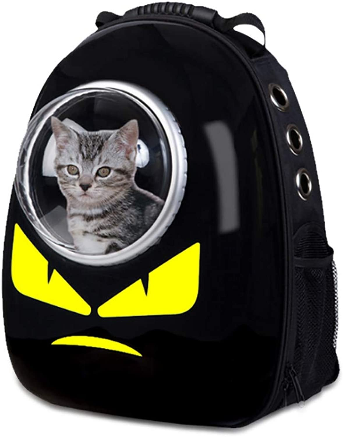 CRUGLZM Pet Carrier Backpack Latest Style Comfortable Dog Cat Travel Carrier Bag Front for Small Dogs Carrier Bike Hiking Outdoor Space Capsule Bubble Design,A