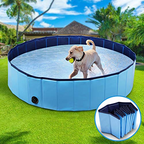 Winipet Foldable Dog Swimming Pool Puppy Bathtub, X-Large Pet Bathing Tub for Dog &Cat, Dogs...