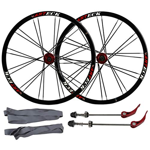 KZEE Mountain Bike Disc Brake Wheelset 26 Inch, Double Wall Aluminum Alloy Quick Release Sealed Bearings Compatible 8/9/10 Speed Wheels (Color : B, Size : 26inch)