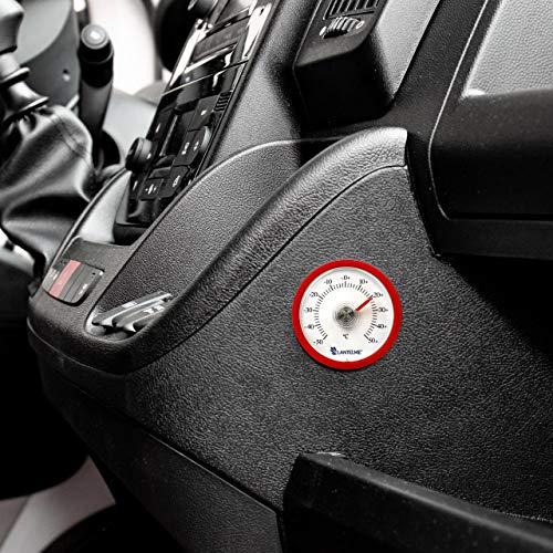Lantelme Autothermometer Selbstklebend Analog Auto Fahrzeug Pkw LKW Innen Thermometer Farbe Rot 7720
