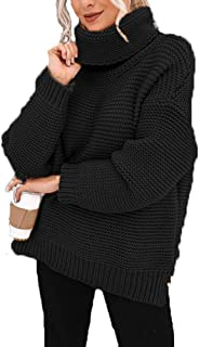 OHDREAM Plus Size Turtleneck Sweater Women Cowl Neck Chunky Cable Knit Long Sleeve Fall Pullover Sweaters
